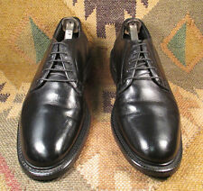 ORTHO-VENT BLACK PEBBLED GRAIN LEATHER PLAIN TOE BLUCHER SIZE 8.5D MADE IN USA