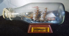 "Ship in Bottle Nautical Collectible 5"" Sailing Ship SOBOTTKA HAMBURG GERMANY"