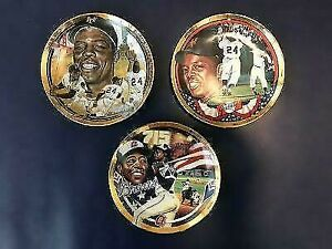 Hank Aaron and 2 Willie  Mays ~ Hamilton Plate Collection ~ Limited Edition