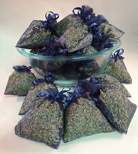 Set of 20 Lavender Sachets made with Navy Organza Bags