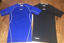 (Lot Of 2) Under Armour Ua Compression Fit Heat Gear Shirts Size Small