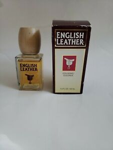 English Leather 3.4 Oz Cologne Splash By Dana For Men (OLD VERSION) Glass/Wood