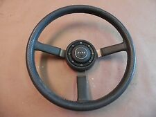 Jeep YJ Wrangler Grey Leather wrap Steering Wheel with Horn XJ MJ cherokee