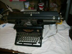 RARE Woodstock Long Carriage 22 in glass key typewriter legal documents vintage