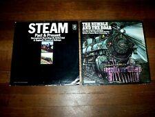 STEAM TRAINS( 2 ) vinyl LP lot: RUMBLE & THE ROAR johnny cash / BRITISH RAIL vg+