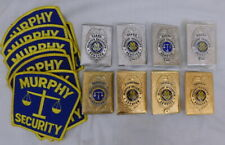 Vintage Lot of 8 Murphy Security Guard Badges + Patches
