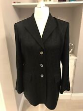 Country Casuals Navy Blue Wool Blend Single Breasted Blazer Evening Jacket Sz 16