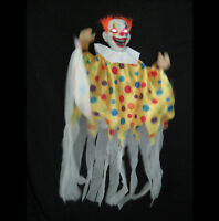 """Animated Scary Clown Lighted Haunted House Hanging Halloween Party Prop 36"""""""