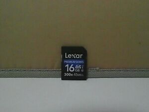 Lexar 16GB SD SDHC Card 300X, 45MB/s Class 10 UHS-I