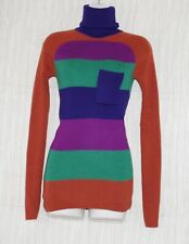Marc Jacobs Wool Multicolored Striped Turtleneck Women's Sweater Size:S