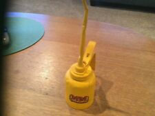 VINTAGE PUMP OILER, OIL CAN, Minneapolis Moline Yellow with sticker(not orig.)