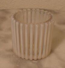 Beatty Rib White Opalescent Toothpick Holder