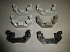 Lego © Ritterburg, Castle, Kingdom: 6 Zinnen, Kränze, grau und schwarz