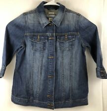 Old Navy Maternity Blue Jean Jacket Size S Stretch Cotton Spandex