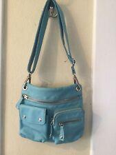 FOSSIL macy leather messenger crossbody bag sling pocketbook shoulder