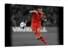 GARETH BALE 30x20 Inch canvas-il Galles Calcio INCORNICIATO QUADRO STAMPA D'ARTE
