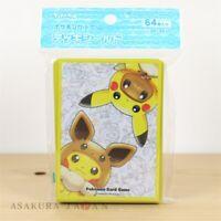 Pokemon Center Original Card Game Sleeve FAN OF PIKACHU & EEVEE Poncho 64