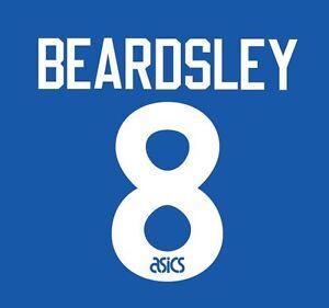 No 8 Beardsley 1993-1995 Newcastle United Away Football Nameset for shirt