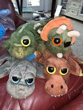 Lot Of 4 Caltoy Plush Stuffed Hand Puppets Dinosaurs Preschool Pretend Play