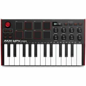 AKAI MPK MINI MK 3 Keyboard controller MIDI USB 25 tasti 8 pad