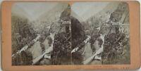 Vallée Da Cauterets Midi-Pirenei Foto Jean Andrieu Stereo Vintage Albumina