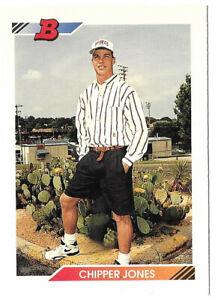 1992 BOWMAN #28 CHIPPER JONES BASEBALL CARD! NEAR MINT CONDITION!