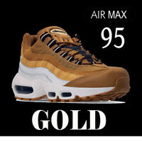 "NIKE AIR MAX 95 PREMIUM ""GOLD"" & ""VOLT"" DURABLE RUNNING SNEAKERS AT9865 538416"
