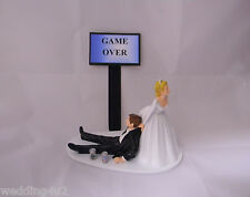 Wedding  Reception Party Game Over Beer Cans Geek Nerd Drunk Groom Cake Topper
