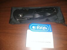 USED Benchmade 583SBK Barrage Assisted Open Folding Knife Serrated Tanto Point