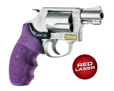 Hogue 60086 LE Laser Enhanced Rubber Red Laser Grip for S&W J Frame Round Butt
