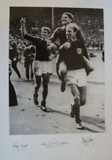England 1966 Signed By Jack Charlton, Alan Ball Roger Hunt 600mm x 420mm £59.99