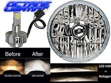 "5-3/4"" Crystal H4 Headlight CREE 360° LED Light Bulb Headlamp Harley Motorcycle"