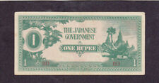 1 RUPEE AUNC-EF BANKNOTE FROM JAPANESE OCCUPIED BURMA 1942 PICK-14