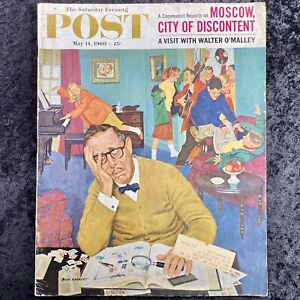 Vintage Saturday Evening Post May 14 1960 Walter O'Malley Dodgers