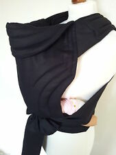 MEI TAI BABY CARRIER /SLING /REVERSIBLE /BLACK /LEG CUT MODEL /COTTON/MADE IN UK