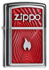 ZIPPO Feuerzeug RED FLAME 3D mit Emblem Zippo Flamme Logo Traumhaft!! NEU OVP