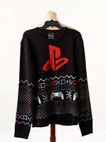PlayStation Mens Crew Neck Ugly Sweater NWOT Size XL Black Long sleeve