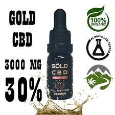 CBD30% GOLD 3000mg C * B * D  Hemp Oil ||  Full Spectrum || Lab Tested