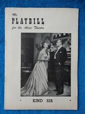 Kind Sir - Alvin Theatre Playbill - March 8th, 1954 - Mary Martin - Boyer