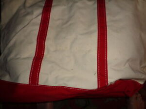 L. L. Bean Canvas Boat & Tote Bag USA EX LARGE  24 x 16 x 9 RED