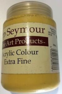 Pip Seymour Naples Yellow Deep Hue Acrylic Paint 500ML. New Unused
