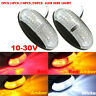 2/4/10 LED Front Side Marker Indicator Light Lamp 12V 24V Car Truck Van Trailers
