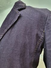 Boden Ladies Purple Fitted Corduroy Cord Blazer Jacket UK Size 10 retro fairy