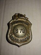 Vintage Obsolete Burlington New Jersey Fire Department Badge