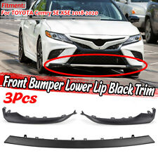 3Pcs For Toyota Camry SE XSE 2018-2019 Front Protector Bumper Guard Cover Trim