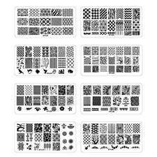 16PCS/lot Konad Design Stamp Image Nail Art Stamping Plate DIY Image Plate