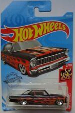 2019 Hot Wheels H Case 7//10 HW Flames 7//10 1966 Chevy Nova Red//Flames