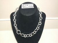 "Sarah Coventry Silver Tone Chain Style Necklace, 16"" to 20"" Very Nice! Lot#222"