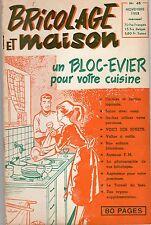 BRICOLAGE ET MAISON 48 NOVEMBRE 1953 RARISSIME COUVERTURE DE M.TILLIEUX