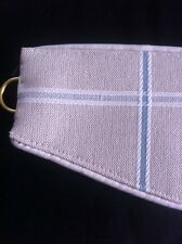 "LAURA ASHLEY NEW 1 Pr Tie-backs ARDEN CHECK col: NATURAL/DUCK EGG 26"" PIPED"